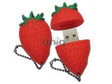 Флешка Uniq USB 2.0 FRUITS КЛУБНИКА красная, Резина 4GB (04C35078U2)