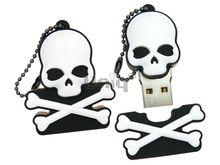 Флешка Uniq USB 2.0 HELLOWEEN ПИРАТСКАЯ СИМВОЛИКА Череп и кости Резина 4GB (04C35079U2)