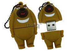 Флешка Uniq USB 2.0 МИШКА гималайский бежевый Резина 4GB (04C35083U2)