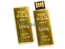 Флешка Uniq USB 2.0 БАНКОВСКИЙ СЛИТОК Юник золото [металл] 4GB (04C35084U2)