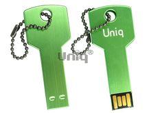 Флешка Uniq USB 2.0 КЛЮЧ ДвернойФлешка Uniq USB 2.0 зеленый [металл] 4GB (04C35086U2)
