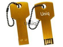 Флешка Uniq USB 2.0 КЛЮЧ Дверной золото [металл] 4GB (04C35088U2)