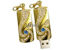 Флешка Uniq USB 2.0 ЗОЛОТАЯ МЕТЕЛИЦА Золото / Синий 4GB (04C35096U2)