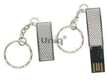 Флешка Uniq USB 2.0 ОФИС серебро 3D фактурная, металл выдвижн. 4GB (04C35113U2)