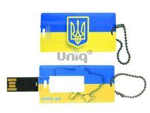 Флешка Uniq USB 2.0  ВИЗИТКА флаг Украины прямоугольная, пластик 4GB (04C35143U2)