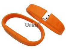Флешка Uniq USB 2.0 БРАСЛЕТ Силиконовый фигурный оранжевый 4GB (04C35157U2)