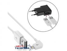 Кабель Megag  двухстороний USB AM (папа) - Apple Lightning (8 pin) M (папа), длина 1m   White OEM