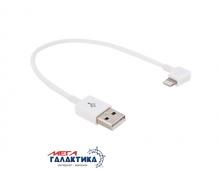 Кабель Megag  угловой USB AM (папа) - Apple Lightning (8 pin) M (папа), длина 0.2m   White Box