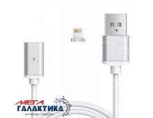 Кабель Megag  магнитный (Magnetic) USB AM (папа) - Apple Lightning (8 pin) M (папа), длина 1m   White OEM