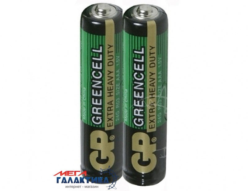 Батарейка GP AAA Greencell  1.5V Carbon-Zinc (24G-S2) Фото товара №1