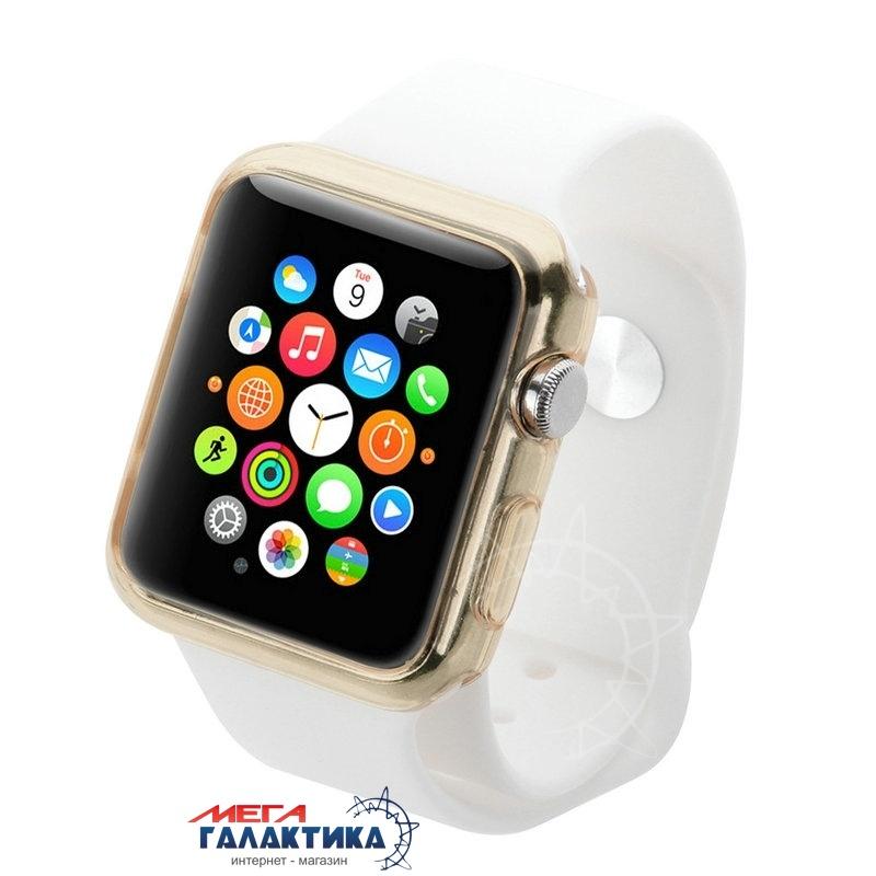 Защитный чехол HAWEEL 42 мм для Apple Watch  Gold Силикон Фото товара №2