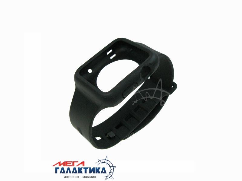 Ремешок Megag 42 мм для Apple Watch  Black Резина Фото товара №1