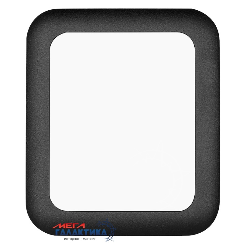 Защитное стекло Megag 38 мм для Apple Watch Surface Hardness Metal (толщина 0,2 мм 2,5D)  Black Фото товара №2