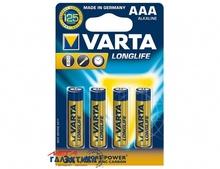 Батарейка Varta AAA LONGLIFE  BLI 4   1.5V Alkaline (4103101414)