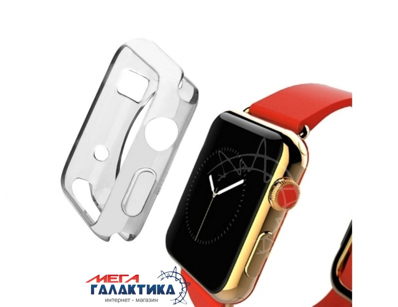 Защитный чехол HAWEEL 38 мм for Apple Watch  Transparent Gray Фото товара №1