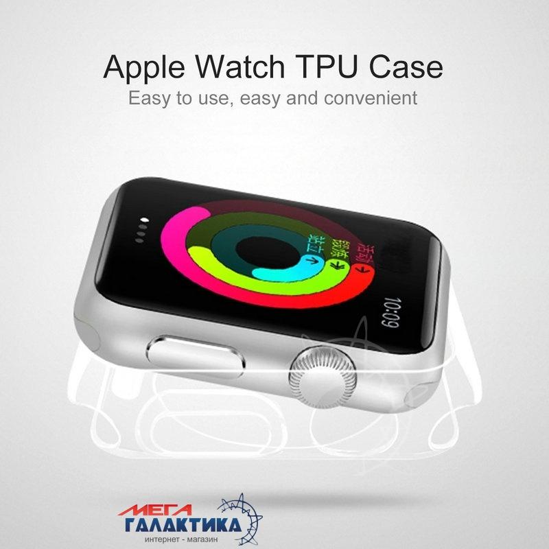 Защитный чехол HAWEEL 38 мм for Apple Watch  Transparent Gray Фото товара №2