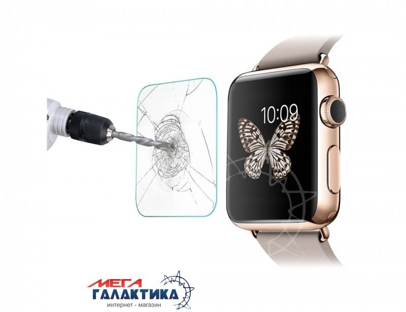 Стекло для Apple Watch 38mm 0.2mm Real Tempered Glass Film Фото товара №1