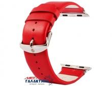 Ремешок Kakapi 38 мм For Apple Watch  Subtle Texture классическая пряжка с разъемом  Red