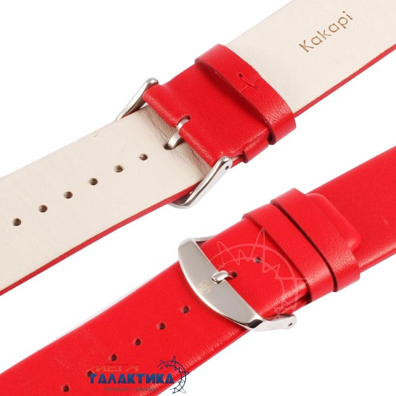 Ремешок Kakapi 38 мм For Apple Watch  Subtle Texture классическая пряжка с разъемом  Red Фото товара №2
