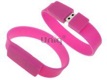 Флешка Uniq USB 2.0 БРАСЛЕТ Силиконовый малиновый 4GB (04C37618U2)