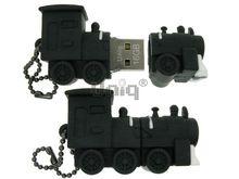 Флешка Uniq USB 2.0 ПАРОВОЗ черный 4GB (04C37619U2)