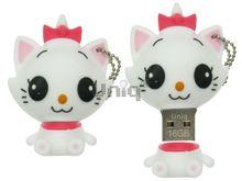 Флешка Uniq USB 2.0 КОШЕЧКА белая 4GB (04C37659U2)