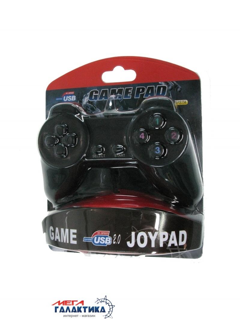 Джойстик Megag Game Pad USB-701 USB 14 OEM  Black Фото товара №2
