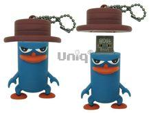 Флешка Uniq USB 2.0 ПТИЦА Пингвин в шляпе, синий 4GB (04C37947U2)