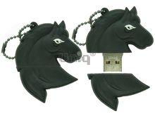 Флешка Uniq USB 2.0 ГОЛОВА ЛОШАДИ, черный 4GB (04C37949U2)