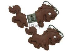 Флешка Uniq USB 2.0 КОНИК, коричневый 4GB (04C37951U2)