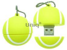Флешка Uniq USB 2.0 Резина МЯЧ ТЕННИСНЫЙ желтый 4GB (04C37962U2)