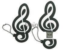 Флешка Uniq USB 2.0 Резина Скрипичный Ключ 4GB (04C37963U2)