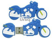 Флешка Uniq USB 2.0 Резина Мото Байк синий 4GB (04C37964U2)