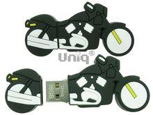 Флешка Uniq USB 2.0 Резина Мото Байк черный 4GB (04C37965U2)