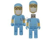 Флешка Uniq USB 2.0 ГЕРОИ ВРАЧ Хирург Lego в голубом, пластик 4GB (04C37983U2)
