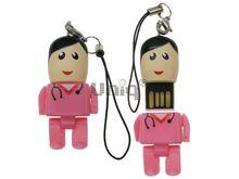 Флешка Uniq USB 2.0 ГЕРОИ Lego Mini ВРАЧ Женщина в розовом 4GB (04C37988U2)