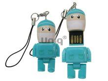 Флешка Uniq USB 2.0 ГЕРОИ Lego Mini ВРАЧ Хирург в голубом Tiffany 4GB (04C37989U2)