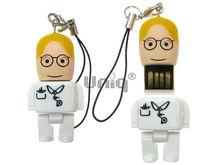 Флешка Uniq USB 2.0 ГЕРОИ Lego Mini ВРАЧ Терапевт в белом 4GB (04C37990U2)