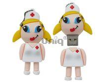 Флешка Uniq USB 2.0 Резина Медсестричка в белом халате 4GB (04C37992U2)