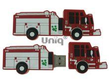 Флешка Uniq USB 2.0 AUTO Пожарная машина, красная 4GB (04C38030U2)
