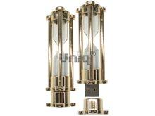 Флешка Uniq USB 2.0 ЧАСЫ Песочные, металл золото, песок белый 4GB (04C38038U2)
