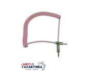 Кабель Megag Jack 3.5mm M (папа) - Jack 3.5mm M (папа) (3 пин) HQ 1.8m (0.35-1.8m) Витой кабель  Pink