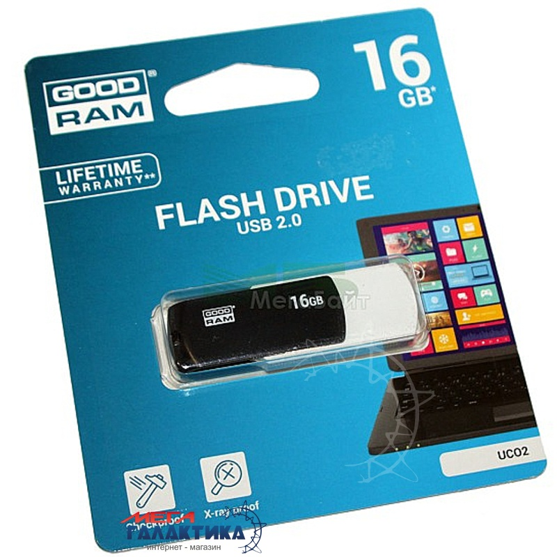 Флешка USB 2.0 Goodram Twister UCO2 16GB (UC02-0160KWR11) Фото товара №2