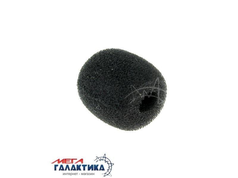 Ветрозащита на микрофон петличек и гарнитур PC 25x20mm Black OEM Фото товара №1
