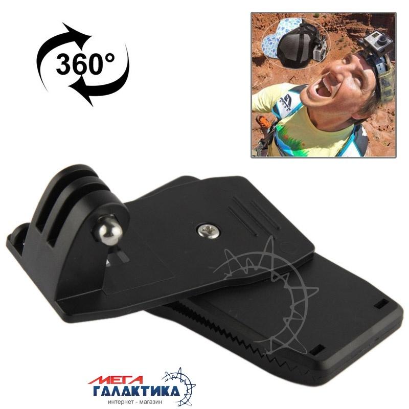 Крепление для GoPro Hero/2/3/3+/4 Megag прищепка, поворот 360° под съёмную пряжку  Black OEM Фото товара №2