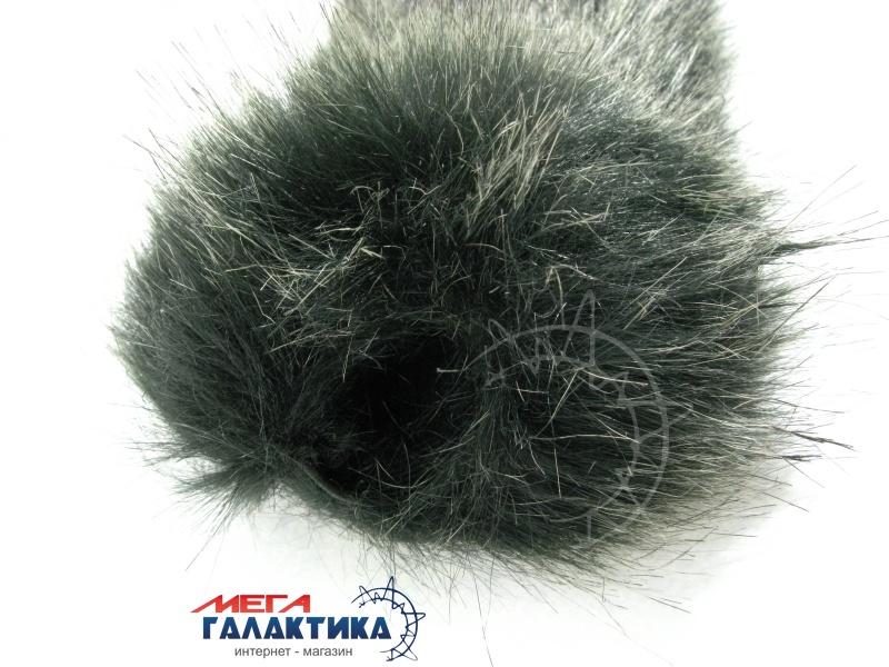 Ветрозащита на динамич. микрофон, 3x16, серый, ворсистый мех. Фото товара №2