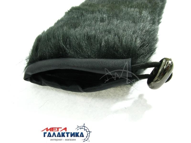 Ветрозащита на динамич. микрофон, 4x23, черный, ворсистый мех. Фото товара №2