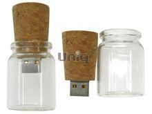 Флешка Uniq USB 2.0 Аптечная бутыль, стекло 4GB (04C40536U2)