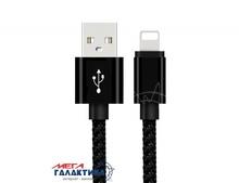Кабель Woven Style   USB AM (папа) - Apple Lightning (8 pin) M (папа), длина 2m   Black OEM