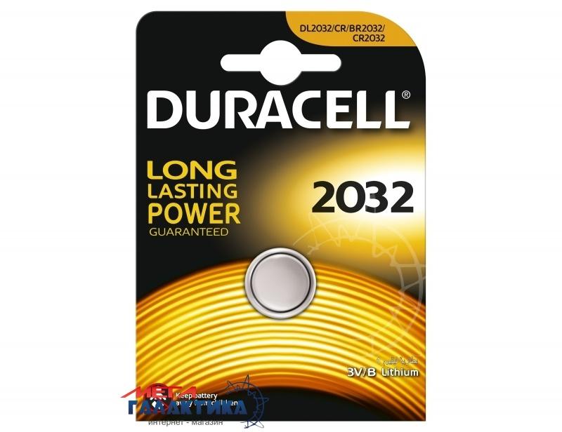 Батарейка Duracell DL2032 225 mAh 3V Lithium (5000394023369) Фото товара №1